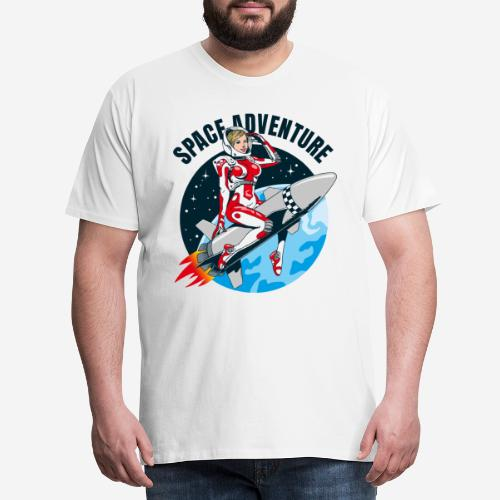 space adventure rocket girl - Männer Premium T-Shirt