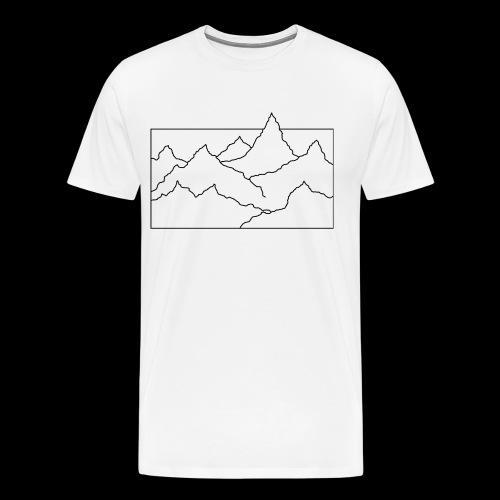 Kontur Gebirge schwarz - Männer Premium T-Shirt