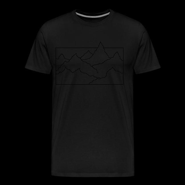 Kontur Gebirge schwarz