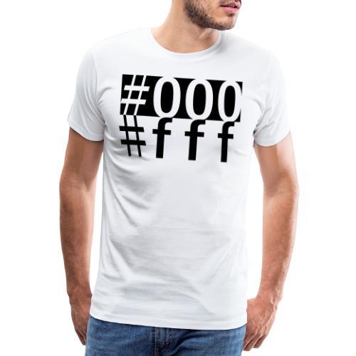 #000 & #fff - Männer Premium T-Shirt