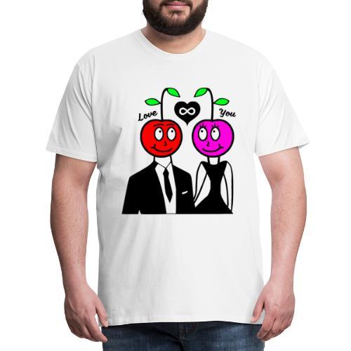 Happy Kirsche - Männer Premium T-Shirt