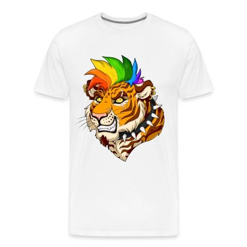 Punk Tiger - Koszulka męska Premium