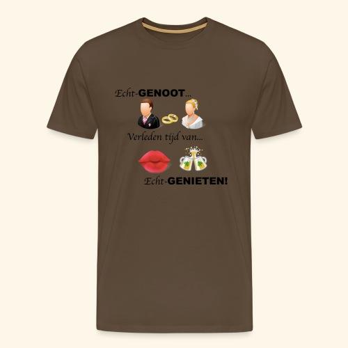 Echt-genoot, verleden tijd van ECHT-GENIETEN - Mannen Premium T-shirt
