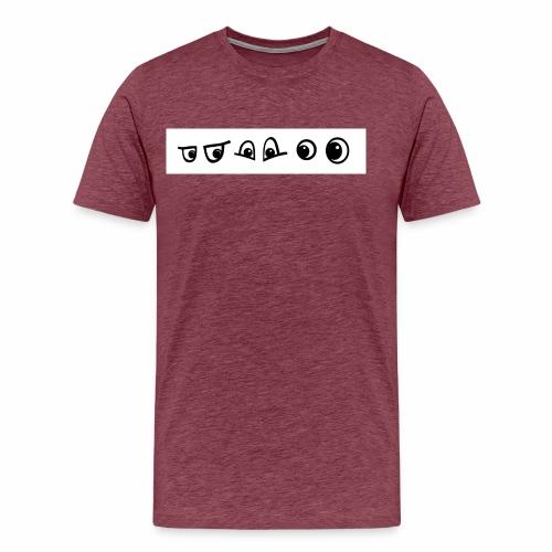 graffiti caracter augen - Männer Premium T-Shirt