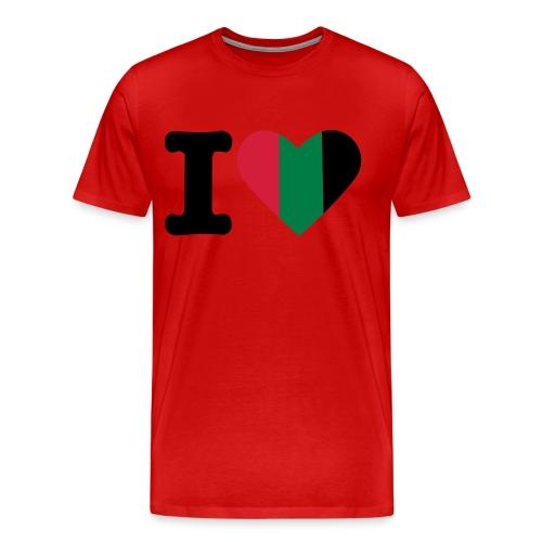 hartjeroodzwartgroen - Mannen Premium T-shirt