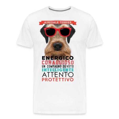 02_AIREDALE_TERRIER - Maglietta Premium da uomo
