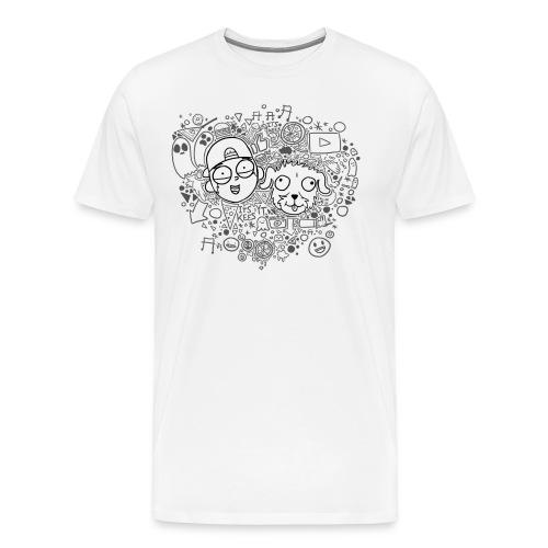 ROCKY EN KEES ZWART-WIT - Men's Premium T-Shirt