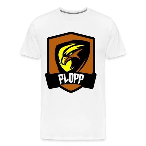 Plopp T-Shirt Emblem Vit - Premium-T-shirt herr