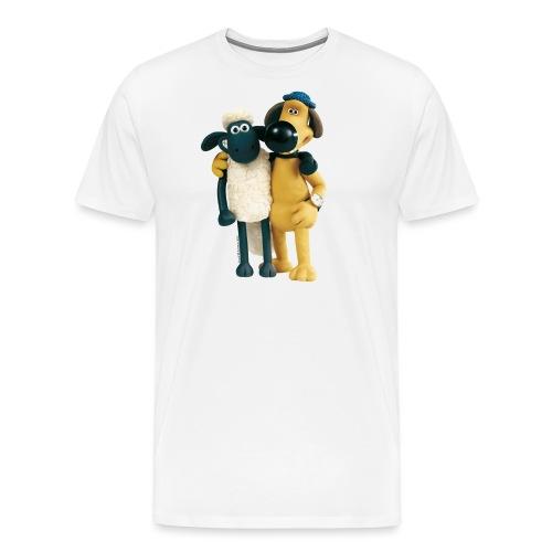 Shaun das Schaf T-Shirt - Shaun und Bitzer - Männer Premium T-Shirt