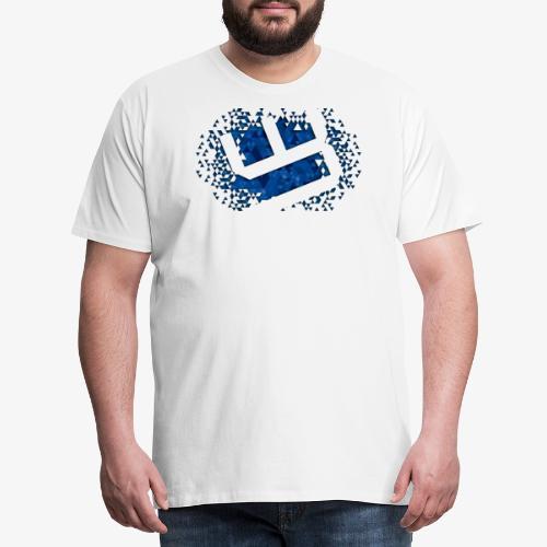 w4sted v2 logo blue - Men's Premium T-Shirt