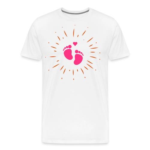 Naissance bébé pour papa ou maman - T-shirt Premium Homme