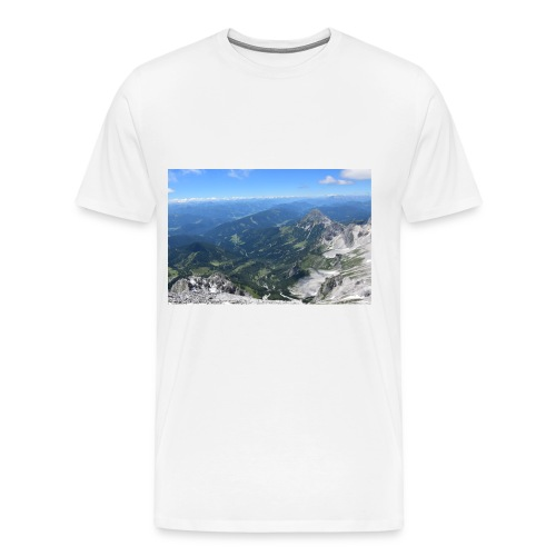 Der Dachstein aussicht - Männer Premium T-Shirt