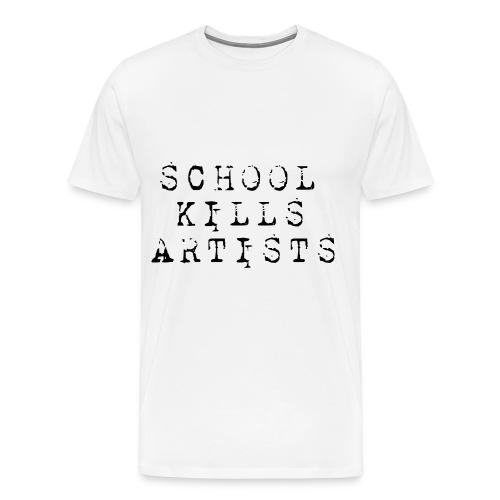 school Kills Artists - Camiseta premium hombre