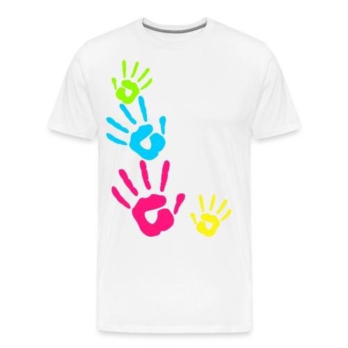 MANOS PINTADAS NIÑOS - Camiseta premium hombre