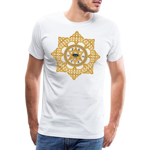 Hexagram ZEUS Mandala 1970 YinYang. 5. Dimension - Männer Premium T-Shirt
