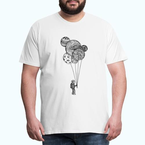 Astronaut with balloons - Men's Premium T-Shirt