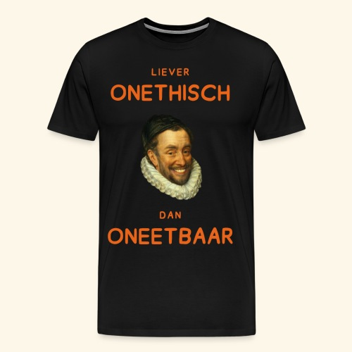 Liever onethisch dan oneetbaar - Mannen Premium T-shirt