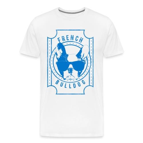 Franse Bulldog Blauw - Mannen Premium T-shirt