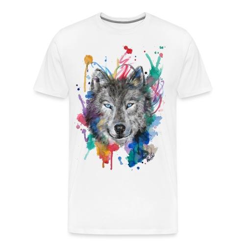Wolf Watercolor by Nadia Luongo - Maglietta Premium da uomo