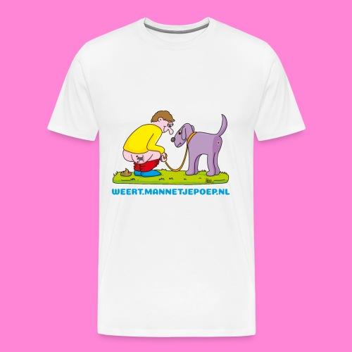 Mannetje Poep Illustratie - Mannen Premium T-shirt
