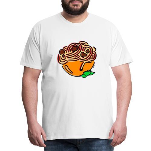 Schüssel Spaghetti - Männer Premium T-Shirt