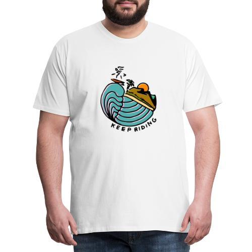 Surfer im Sonnenuntergang - Männer Premium T-Shirt