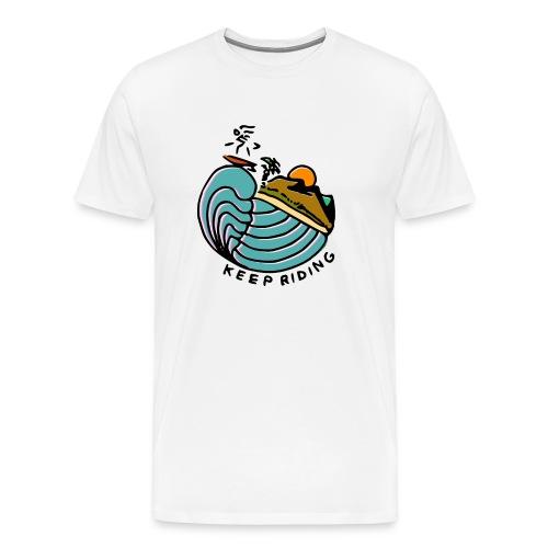 Surfeur au Couchant - T-shirt Premium Homme