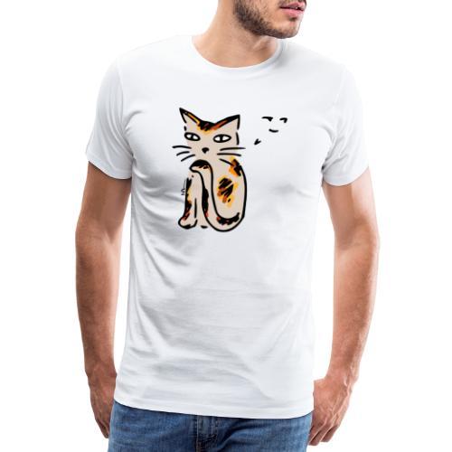 Hinterhältige Katze - Männer Premium T-Shirt