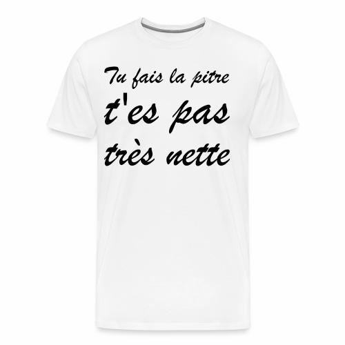 Très nette ? | Punchline - Placements de Produits - T-shirt Premium Homme