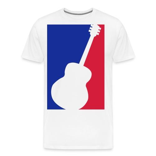 Gitarre (Baseball Style) - Männer Premium T-Shirt