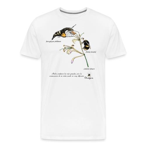 Lonicera etrusca y polinizadores. - Camiseta premium hombre