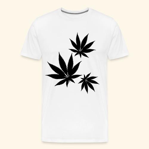 Cannabis Cannabis Leaf Marijuana Ganja Weed Gift - Men's Premium T-Shirt