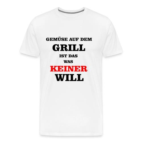Gemüse auf dem Grill - Männer Premium T-Shirt