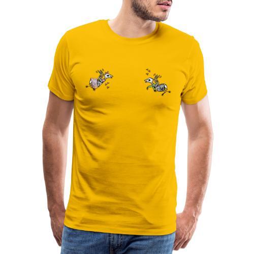 Rock 'n' Roll - verliebte Kuckucks-Skelette - Männer Premium T-Shirt