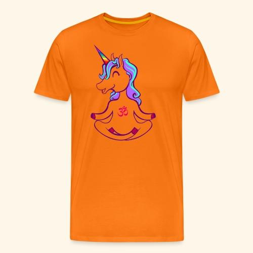 buddhistisches Meditation Einhorn T-Shirt - Männer Premium T-Shirt