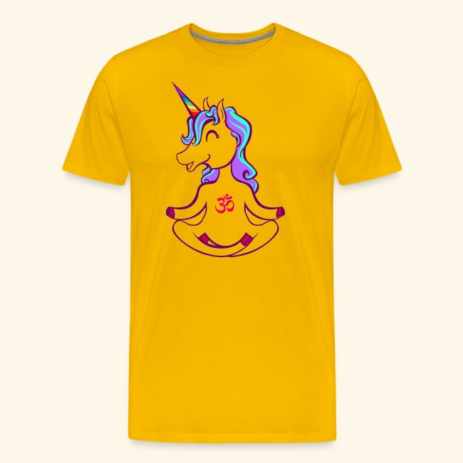 buddhistisches Meditation Einhorn T-Shirt