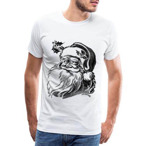 Tête Père-Noël - T-shirt Premium Homme