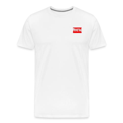 Red And White pricetag - Men's Premium T-Shirt