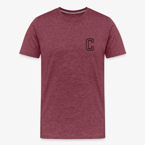 thiccc C logo WHITE - Men's Premium T-Shirt