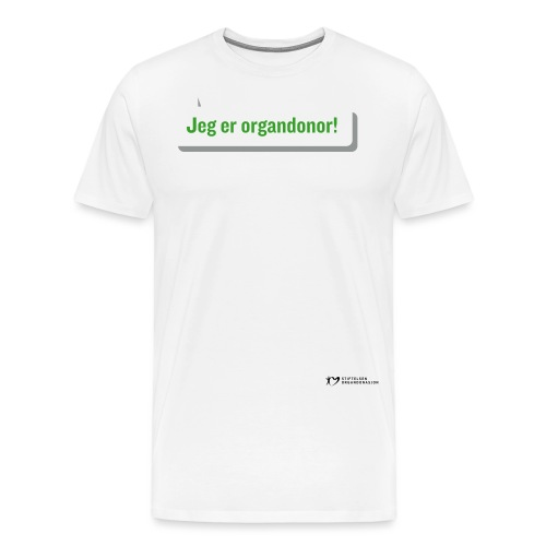 SO logo liggende sort - Premium T-skjorte for menn