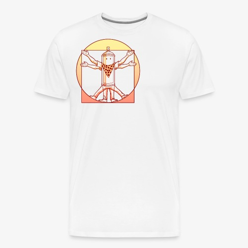 vitruvian luminance graffiti love - Männer Premium T-Shirt