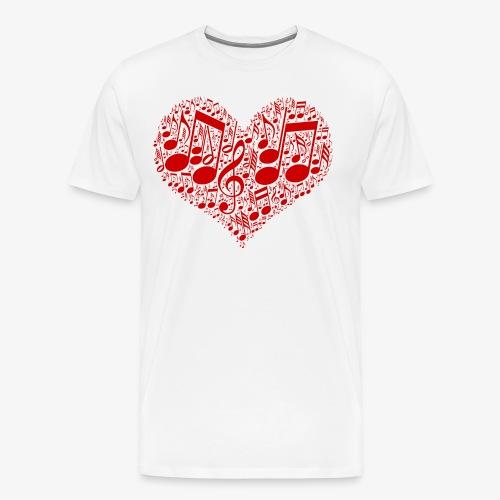 Musik Noten im Herz | Musikliebhaber Geschenkidee - Männer Premium T-Shirt