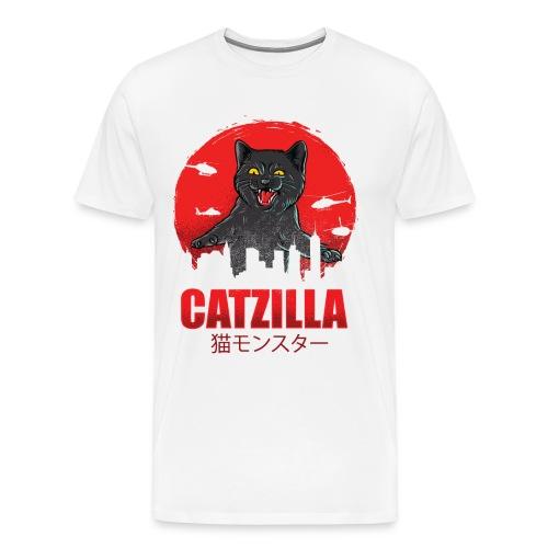 Catzilla Katzen Horror B-Movie Parodie - Männer Premium T-Shirt