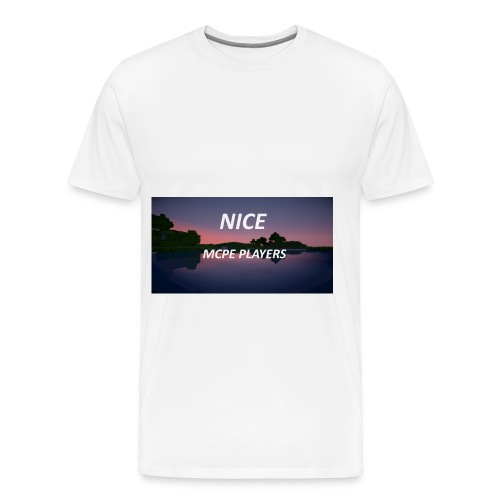 Sonnenuntergang in Minecraft Shader - Männer Premium T-Shirt