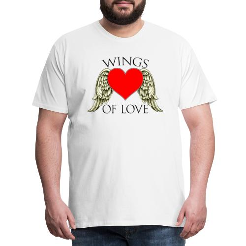 wings of love - Men's Premium T-Shirt
