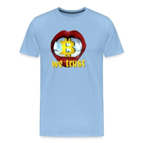bitcoin t shirt design 9 png - Männer Premium T-Shirt