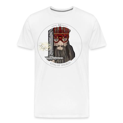 King of Swords | König der Schwerter Tarot Karte - Männer Premium T-Shirt
