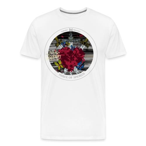 Three of Swords   Drei der Schwerter Tarot Karte - Männer Premium T-Shirt