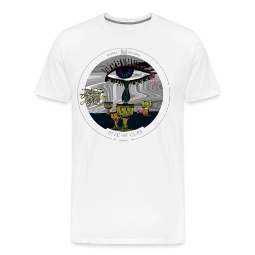 Five of Cups   Fünf der Kelche Tarot Karte - Männer Premium T-Shirt