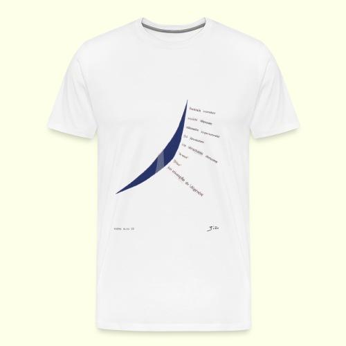 poème bleu 02 - T-shirt Premium Homme